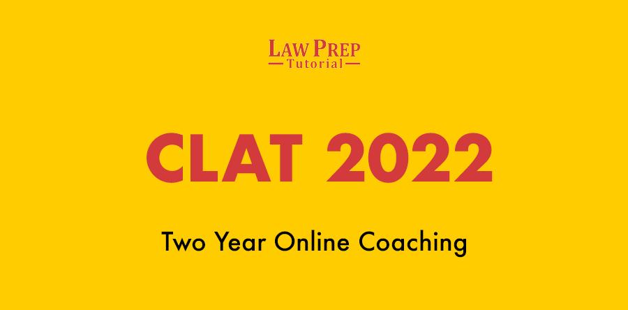 CLAT 2022 online coaching