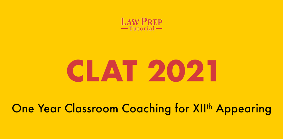 clat 2021 classroom coaching 12th appearing