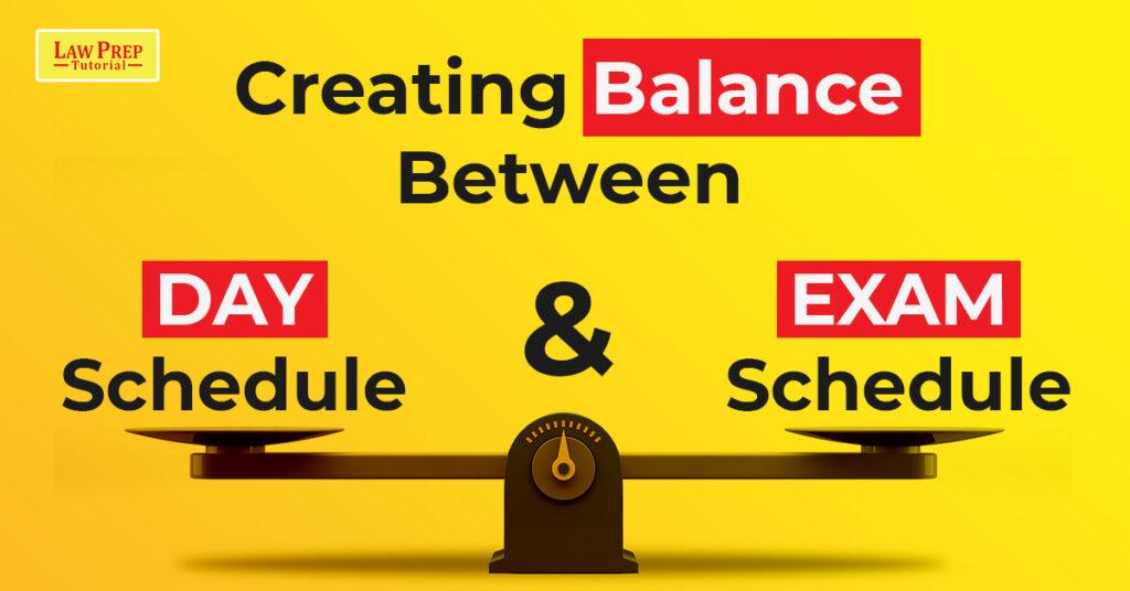 Balancing Between Day Schedule and Exam Schedule